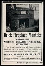 Brick Fireplace Mantel 1907 AD Face Brick Catalogue Boston MA Small AD - $14.99
