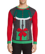NEW MENS AMERICAN STITCH ELF HEAD UGLY CHRISTMAS X-MAS SWEATER L $87 - $16.82