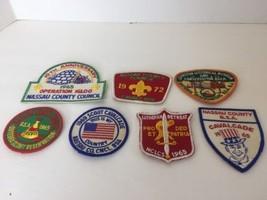 Vintage Souvenir Emblem Nassau County BSA Boy Scout Patch Patches Lot Of 7 - $46.57