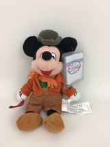 "Disney Store Bob Cratchit Mickey Mouse 8"" Orange Outfit Plush Stuffed Toy w Tags - $15.99"