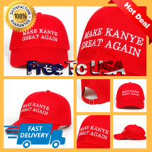 Make Kanye Great Again Embroidered Structured High Profile Hat/Cap - $19.59