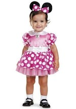 Infant Pink Minnie Mouse Costume SIZE 12-18 MONTHES - $15.83