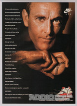 Nolan Ryan Nike Air '90s Texas Rangers Baseball Print Ad Advertisement 1991 - $6.89