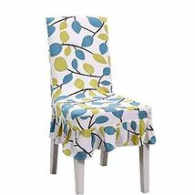 Panda Superstore Fit Stretch Seat Cloth 2 Pcs Elastic Short Chair Covers Dining  - $21.06
