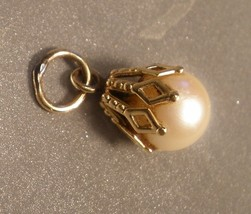 Gold Drop Pendant with Pearl - $25.00