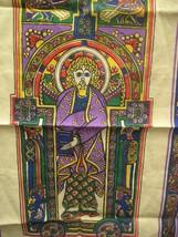 Saint Michael Book of Kells Tea Towel Cotton Linen 29 In Kitchen Ireland  - $19.79
