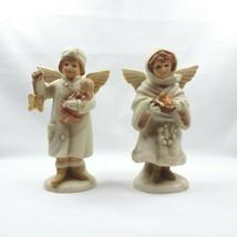 VTG Lot 2 1987 Antique Cherubs Figurine by Schmid Christmas B. Shackman Taiwan - $24.18