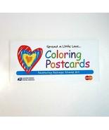 Vintage 2000 USPS Spread a Little Love Postal Stamp Coloring Postcards Book - $9.99