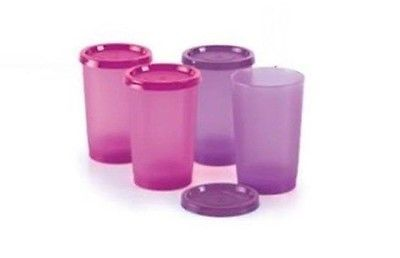 Best Deal Promotion Tupperware 4pc Tumbler 230ml Purple (2) Pink (2)