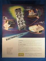 Vintage Magazine Ad Print Design Advertising IBM Business Machines - $12.86