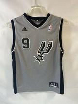 Adidas San Antonio Spurs Tony Parker Youth Medium Jersey Gray Black  - $27.71