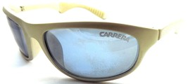 VINTAGE Carrera 5599 20 Light Gray Plastic Sunglasses Blue Lenses 1990s - $32.17