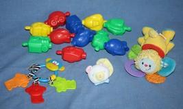Mattel Lamaze Infant BABY TOY LOT Boy Girl Rattle Teether Snap Pop Bead ... - $13.52