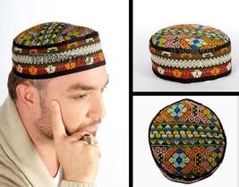 Afghan medıeval folklorıc fez carpet hat handmade cap exotıc ottoman cos... - $50.00