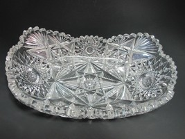 ABP Signed Libbey Melrose American Brilliant Period Cut Glass tray Antique - $181.98