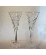 Waterford Toasters Snow Crystals Clear Flute Wedding Toasters 1 Pair Gif... - $69.99