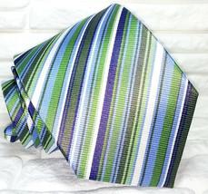 Classic striped men's necktie Made in Italy Morgana brand weddings / bus... - $27.00