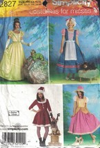 Misses Costumes with Coordinating Dog Costumes Simplicity 2827 Uncut  Si... - $7.91