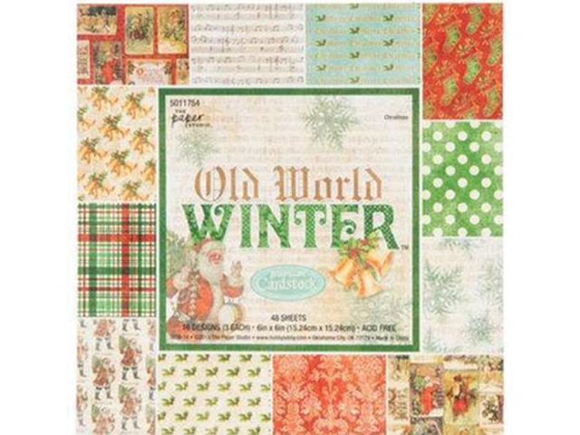 """Old World-48 Sheets 6""""x6"""" Paper Pad-Winter-5011754"""