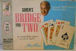 Vintage Bridge For Two Chas Goren Milton Bradley 1964 Complete Game - $17.81