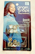Vintage Ginger Snaps PEARL SNAP FASTENERS Buttons Western Shirt Scovill ... - $7.91
