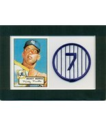 Mickey Mantle 1952 Topps Rookie Reprint #311 and Embroidered Patch Matte... - $14.36