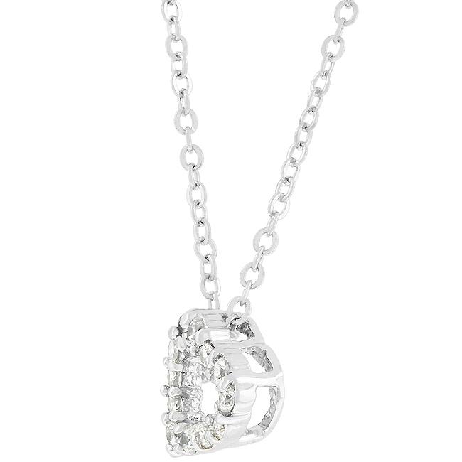 Cubic Zirconia Heart Silhouette Pendant
