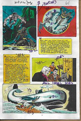 Original 1975 Batman Man-Bat Brave & The Bold 120 DC Comics color guide art page