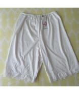 "Vintage Vanity Fair Petti Leg XL 26"" White Nylon Lace Modest Glam New Ol... - $49.45"