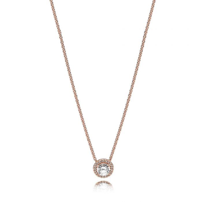 Pandora rose classic elegance necklace clear cubic zirconia 1 19776392 t1545346211