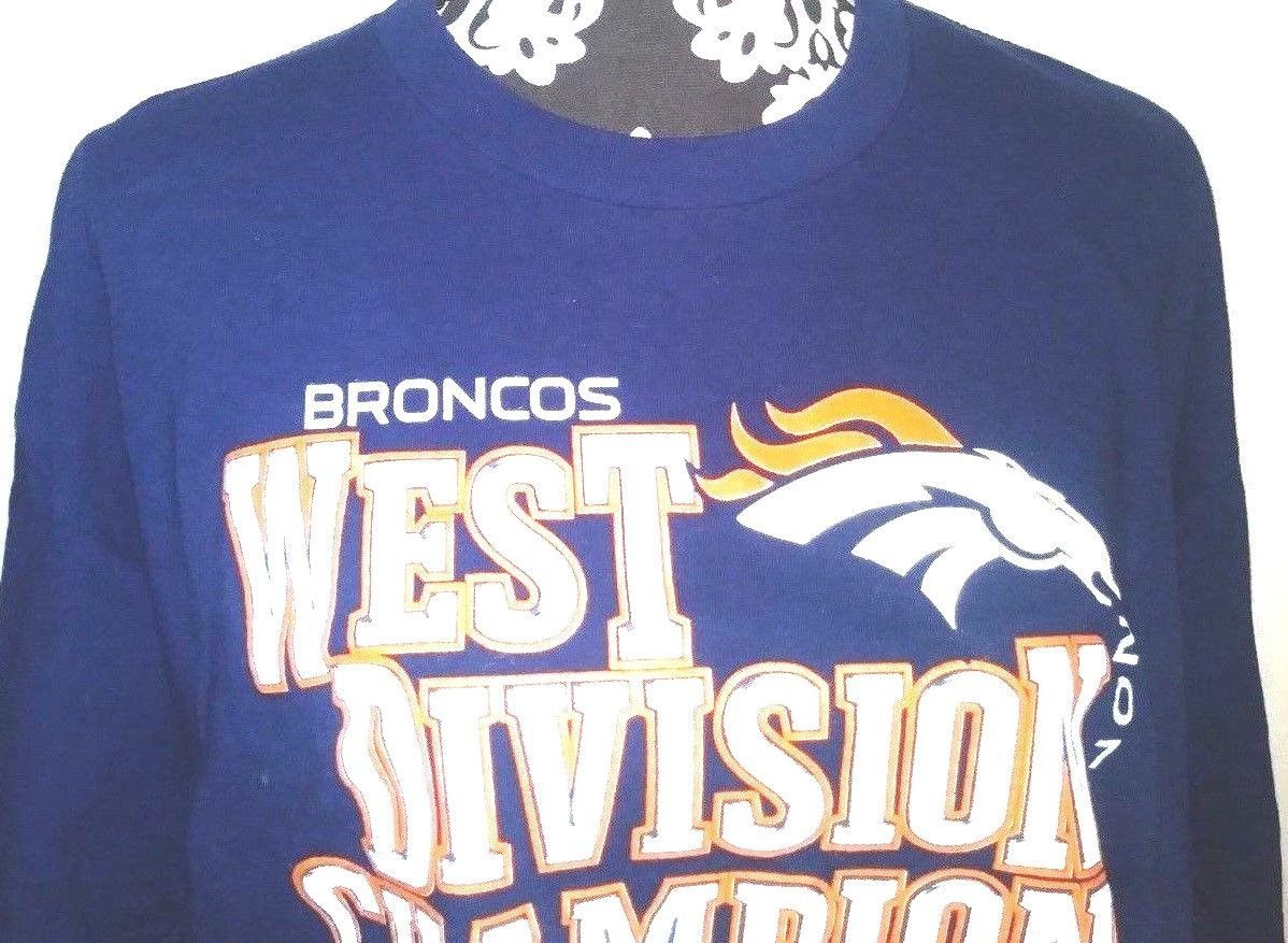 Broncos Unisex XL 2012 West Division Champions Football Conference T Shirt
