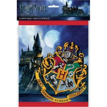 Harry Potter Hogwarts Party Favor Treat Loot Bags 8 Ct Birthday Supplies Unique - $3.22
