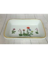 "Louis Lourioux Le Faune Wildflowers Rectangular Loaf Baking Dish 9"" x 5.... - $18.69"