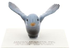 Hagen-Renaker Miniature Ceramic Bird Figurine Blue Tweetie Pa, Ma & Baby Set image 11