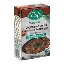 Pacific Natural Foods Soup - Vegetable Lentil and Roasted Red Pepper - C... - $54.99+