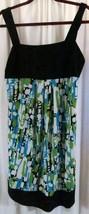 DressBarn 12 Strap Dress knee length Multi Color Empire Waist - $17.67