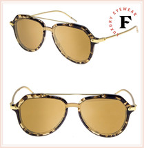 DOLCE & GABBANA PRINCE 4330 Gold Beige Havana Mirrored Sunglasses DG4330... - $270.27