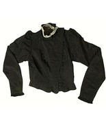 Antique 1800s Edwardian Small Black Top Repair or Pattern Costume Woman ... - $188.09