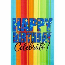 """Amscan """"A Year To Celebrate"""" Happy Birthday Paper Tablecloth 2 pack - $6.66"""
