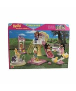 Mattel Barbie Doll 1998 Kelly Baby Sister of Barbie Playground Set Plays... - $93.11