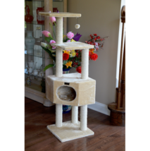 Cat Trees and Condos Large Armarkat Towers Pet Furniture Three Levels Pl... - $106.84