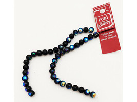 Bead Gallery 8mm Round A/B Jet Glass Beads #55369