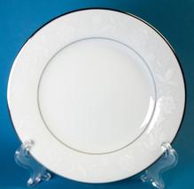 Noritake Ranier Bread Plate 6909 Fine China White Flowers Platinum Trim - $5.00
