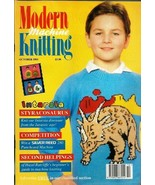 Modern Machine Knitting Oct 1993 Magazine Intarsia Styracosaurus, Eagle,... - $19.99