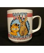 Vote Democratic Garfield the Cat Ceramic Political Mug – Jim Davis Art (... - $5.99