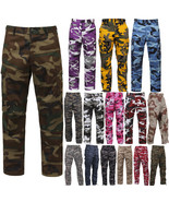 Tactical BDU Pants Camo Cargo Uniform 6 Pocket Camouflage Military Army ... - $32.99+