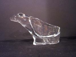 Crystal Modern Clear Glass Stylized Polar Bear Votive Holder 4.5 Inches ... - $24.78