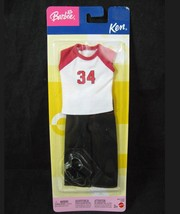 Barbie Ken Fashion 2003 Sport Outfit Jersey Shirt Pants Black Shoes New Mattel  - $15.81