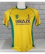 Brazil Rusia 2018 soccer men'steam world cupt shirt polyester yellow g... - $10.42