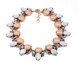 Simple Generous Pendant Fashion Short Champagne Pink and Green Chokers N... - $26.64